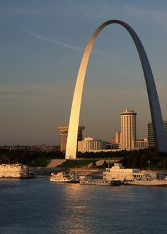 St Louis, MO.  That cylindrical shaped building under the arch is the hotel were we stayed.