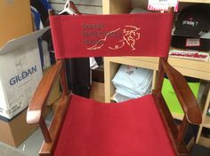 Directors chair - custom embroidered