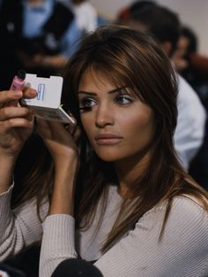 Helena Christensen backstage 1992