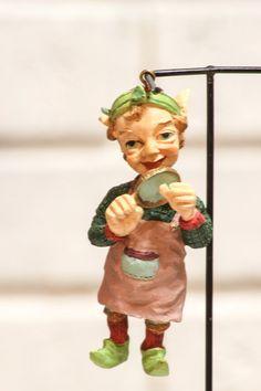 Vintage ELF Christmas Tree Ornament Santas Workshop by CabinOn6th