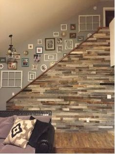 Reclaimed Wood Wall Paneling Pack of 10 Square Feet Inch Wide) Barnwood Accent Wall, ShipLap Wood Boards, Rustic Barn Wood Ceiling Plank Decor Farmhouse Living Room Panel AllBarnWood Reclaimed Wood Wall Panels, Wood Panel Walls, Wood Wall Paneling, Weathered Wood, Buy Reclaimed Wood, Distressed Wood Wall, Wall Wood, Diy Wood, Palettes Murales