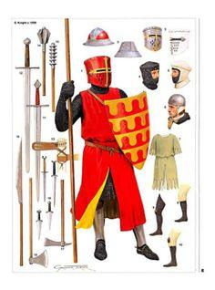 Knight, mid 13th century - Osprey