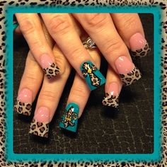 Leopard Crosses by - Nail Art Gallery by Nails Magazine Fabulous Nails, Gorgeous Nails, Love Nails, Amazing Nails, Cross Nail Designs, Diy Nail Designs, Toe Designs, Zebra Nail Art, Leopard Nails