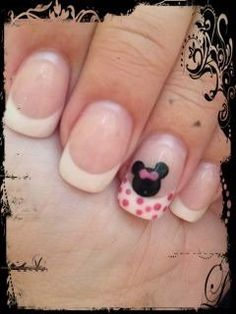 Minnie Mouse nail design by Samantha for my Disney cruise!