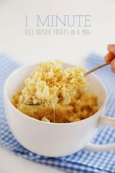 1-Minute Microwave Rice Krispies Treats in a Mug