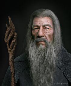 Gandalf, Leandro Mendonça on ArtStation at https://www.artstation.com/artwork/xo9Wm
