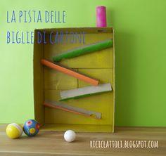 Track by Riciclattoli (e dintorni...): Pista per biglie di cartone...