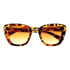 Fashion Designer Retro Womens Large Cat Eye Tortoiseshell Sunglasses Shades C1100 - FREYRS Eyewear