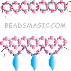 Free pattern for beautiful beaded necklace Autumn Melody with leaves beads.  U need:    seed beads 10/0 – 11/0    pearl beads 3 – 4 mm    leaves beads    For first step use 2 needles in the same time!  - See more at: http://beadsmagic.com/?p=2580#more-2580
