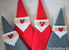 Strikkefåret: Strikkede og hæklede jule servietringe