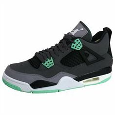 The Air Jordan 4 Retro Shoes Features: Color: Dark Grey - Green Glow - Cement Grey-Suede between shades of grey, accented by black and green glow-Green Glow sole-Nubuck upperBe Sure To Check Out The Rest Of Our Jordan Shoes!'