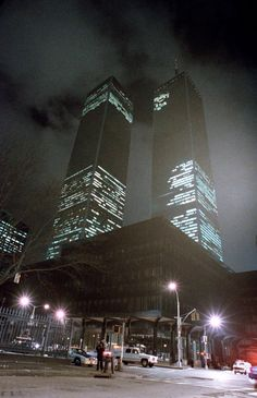 FILE - This Feb. 26, 1993 file photo shows the twin towers of the World Trade Center in New York City after an explosion earlier in the day which killed six. Some analysts say the U.S.'s conflict with factions of Islamist militants and terrorists dates back further than the autumn of 2001, citing such incidents as the 1993 bombing of the World Trade Center and the 1983 bombing that killed over 240 U.S. servicemen at a barracks in Lebanon. (AP Photo/Ron Frehm, File)