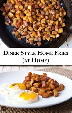 Homemade home fries! Diner style potatoes take a little patience and the right spice mix, but they are definitely worth it. Perfect with a few eggs!