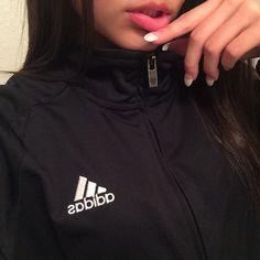 Find images and videos about girl, fashion and style on We Heart It - the app to get lost in what you love. Model Poses Photography, Tumblr Photography, Girl Photo Poses, Girl Photos, Black Adidas Jacket, Aesthetics Tumblr, Gangster Girl, Girls Lips, Applis Photo