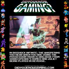 Did you know gaming? #bioshock infinite possession vigor romeo and Juliet in reverse