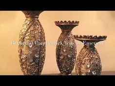 Diamond Studs & Glittering Gold Set the Stage for This Beautiful Candlestick Trio by Emenest - YouTube