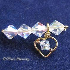 charm pin, wire jewelri, jewelri inspir, wire art, heart pin, wire tutorials, jewelleri tutori, charm heart, wire craft