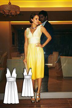Drapé Dress 06/2010 #126 http://www.burdastyle.com/pattern_store/patterns/drap%C3%A9-dress-062010?utm_source=burdastyle.com&utm_medium=referral&utm_campaign=bs-tta-at-150617-BrightNightsCollection126