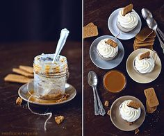 No Bake Caramel Cheesecake Jars  +++keksunterwegs.de+++