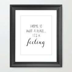 Home is Not a Place print.