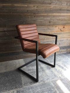 Lederstuhl Industriedesign Freischwinger Stahl Büffelleder Vintage Braun Outdoor Chairs, Outdoor Furniture, Outdoor Decor, Vintage, Home Decor, Ebay, Dining Table Chairs, Industrial Design, Cantilever Chair