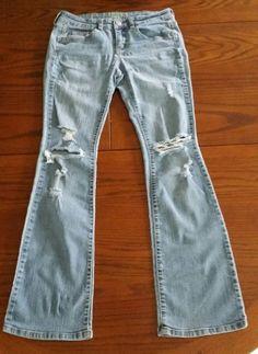 Womens side zip boot cut jeans