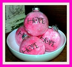 Hope Bulbs ~ I love them!  Hope is my word from the Lord for 2012: