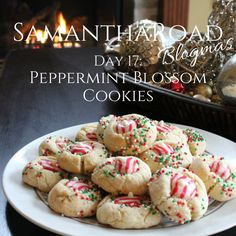Peppermint Hershey Blossom Cookies
