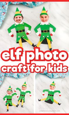 Free Printable Christmas Craft For Kids | Help transform your children into Buddy the Elf with this fun and simple paper craft. It's great for preschool, kindergarten and elementary children to do at home or at school! #christmas #christmascrafts #christmascraftsforkids #kids #kidsandparenting #craftsforkids #kidscrafts #kidsactivities #ideasforkids #elementary #teaching #teacher #ece #kindergarten #artforkids #kidsart #boredombusters