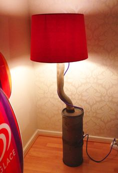 Lamp made by me. Muffler with lamp from IKEA.