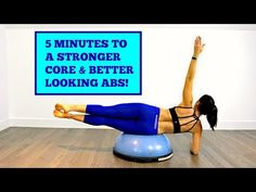 5 MINUTES TO BETTER ABS - CORE WORKOUT ON THE BOSU - YouTube