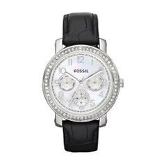 Fossil Boyfriend Watch - Black Fossil. $102.00. Water Resistance : 5 ATM / 50 meters / 165 feet. round Stainless Steel Case Case. Japanese quartz movement. Date. Black Leather Strap