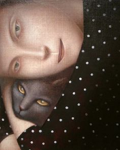 Painting by Vladimir Dunjić, Russian Cat.