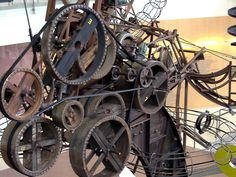 Chaos I by kinetic artist Jean Tingueley at the New Commons in Columbus, Indiana
