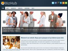 Introducing the BizHub free theme for WordPress. This beautiful Business/Portfolio theme comes with 2 menus with drop-down sub categories and an eye catching