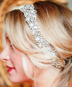 Bride's jeweled headband