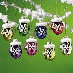 Glass Mittens Ornaments from Lillian Vernon