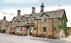 The 300-year-old Devonshire Arms at Pilsley, a traditional pub with a few guest rooms upstairs, has stayed true to its roots even as the world around it has changed. (Courtesy Devonshire Arms)