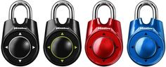 2009 - Master Lock introduces World's first combination lock that opens in left/right/up/down movements, number 1500iD.