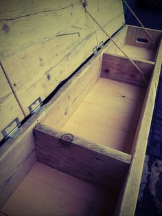 Super size triple storage bench от Naturalcity на Etsy