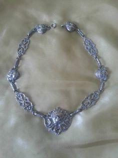 Silver necklace /choker - Marked Italy - Peruzzi or Cini (?)