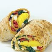 Starbucks' Spinach, Roasted Tomato, Feta, and Egg Wrap - 13 Healthy Breakfast Ideas for the New Year - Shape Magazine