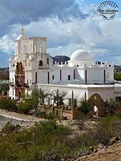 Mission San Xavier (San Havier) del Bac, Tucson, Arizona, United States. Climb the small hill (with the white cross) for a great view..