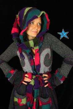 Upcycled Sweater TUTORIAL by Katwise Elf coat by katwise on Etsy, $9.00 --- Kat O'Sullivan