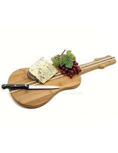 Guitar Shaped Bamboo Cutting Board