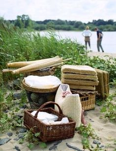 Picnics and that rectangular handled basket!