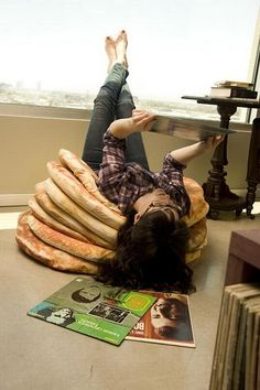 Pancake Floor Pillows -- best idea ever! I would be in pancake Heaven!