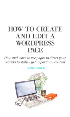 How and when to use pages to direct your readers to static - yet important - content