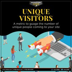 This metric is great for gauging traffic of individuals on your site during specific time ranges. Unique visitors refers to the number of distinct individuals requesting pages from the website during a given period, regardless of how often they visit.