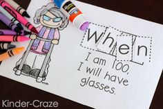 """""""When I am 100…"""" emergent reader for the 100th day of school"""